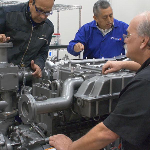 high speed marine engine workshop